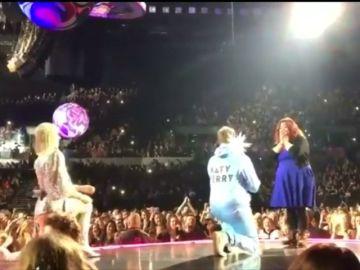Katy Perry le cede el escenario a uno de sus fans para que le pida matrimonio a su pareja