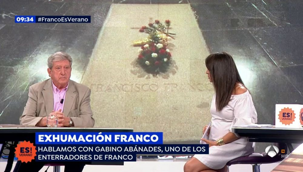 """Gabino Abánades, uno de los enterradores de Franco: """"El féretro estará entero"""""""