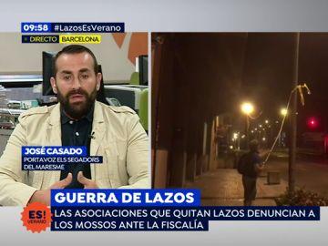 """Casado, portavoz 'Els segadors del Maresme' denuncia las agresiones: """"Un concejal de la CUP nos agredió"""""""
