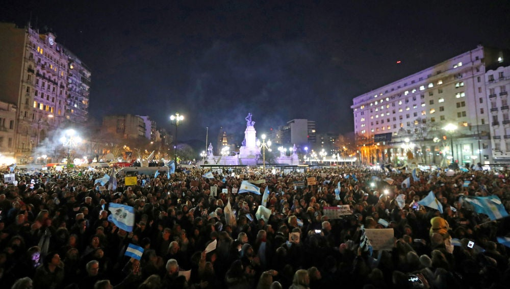 Manifestación en Buenos Aires pidiendo el desafuero y detención de Cristina Fernández