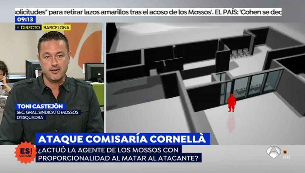 """Castejón, secretario general del sindicato Mossos, sobre la actuación de la agente: """"Era su vida o la de la otra persona"""""""