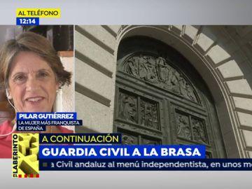 """Pilar Gutiérrez: """"Con Franco no podían obligar a los niños a ser homosexuales como están haciendo ahora"""""""