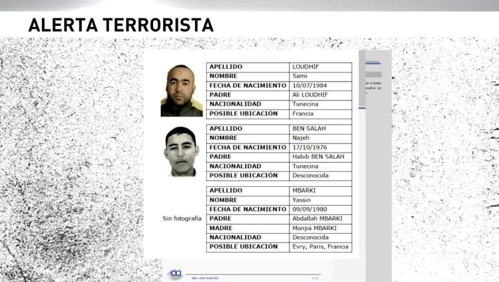 Buscan a tres presuntos terroristas en Europa