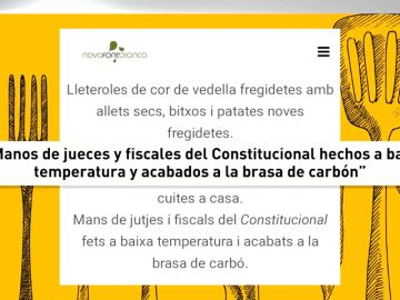 El restaurante de Lleida reincide con otro polémico menú: hay 'manos de cerdos censurados por el articulo 155' entre los segundos
