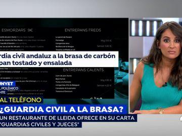 """El dueño del restaurante que ofrece en su carta """"guardia civil andaluz a la brasa"""": """"Son platos típicos aquí"""""""