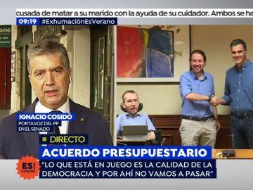 Ignacio Cosidó, portavoz del PP en el Senado en una entrevista en Espejo Público
