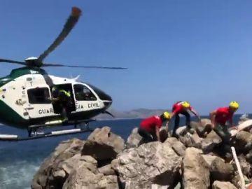 Una niña herida muy grave tras caer por un precipicio en Alcudia