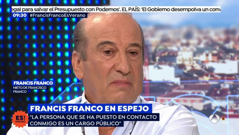 """Francis Franco, sobre la exhumación de su abuelo: """"Es una decisión oportunista, cobarde y revanchista"""""""