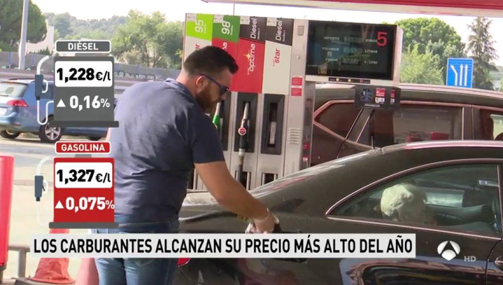 El precio de la gasolina y del gasóleo toca máximos de agosto tras ... e9a81a9573e