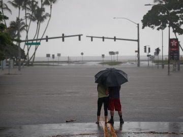 Paso del ciclón Lane por Hawái