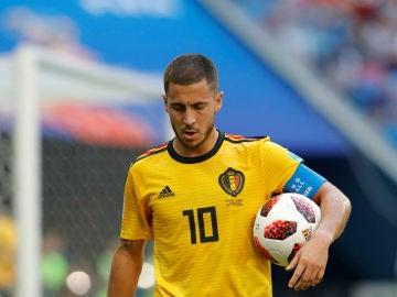 Hazard, con la selección belga