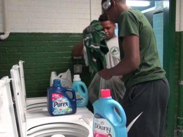 Lavandería en instituto