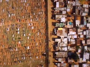 Un fotógrafo capta imágenes aéreas de las fronteras físicas entre la riqueza y la pobreza