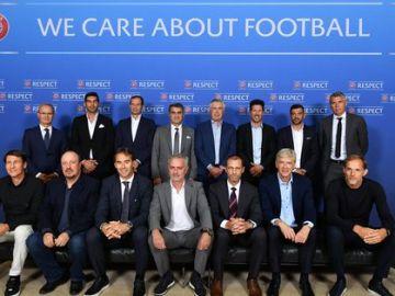 Los entrenadores presentes en el Foro de la UEFA