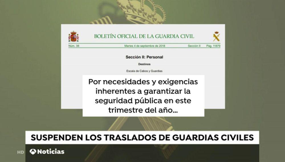 """La Guardia Civil suspende el traslado de 300 agentes en Cataluña para """"garantizar la seguridad"""" en las próximas semanas"""