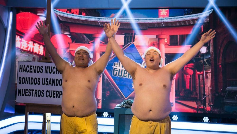 El alucinante dúo de 'El Hormiguero 3.0', Yumbo Dump, capaz de hacer ruidos con su propio cuerpo