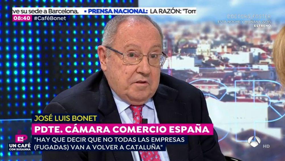 """José Luis Bonet, presidente de Freixenet: """"En Cataluña no hay una catástrofe económica, estamos perdiendo oportunidades"""""""