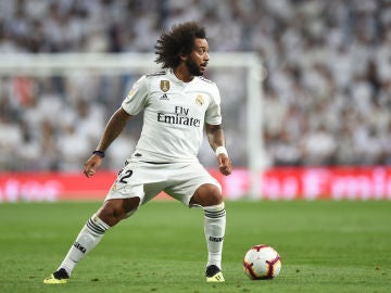 Marcelo en un partido del Real Madrid