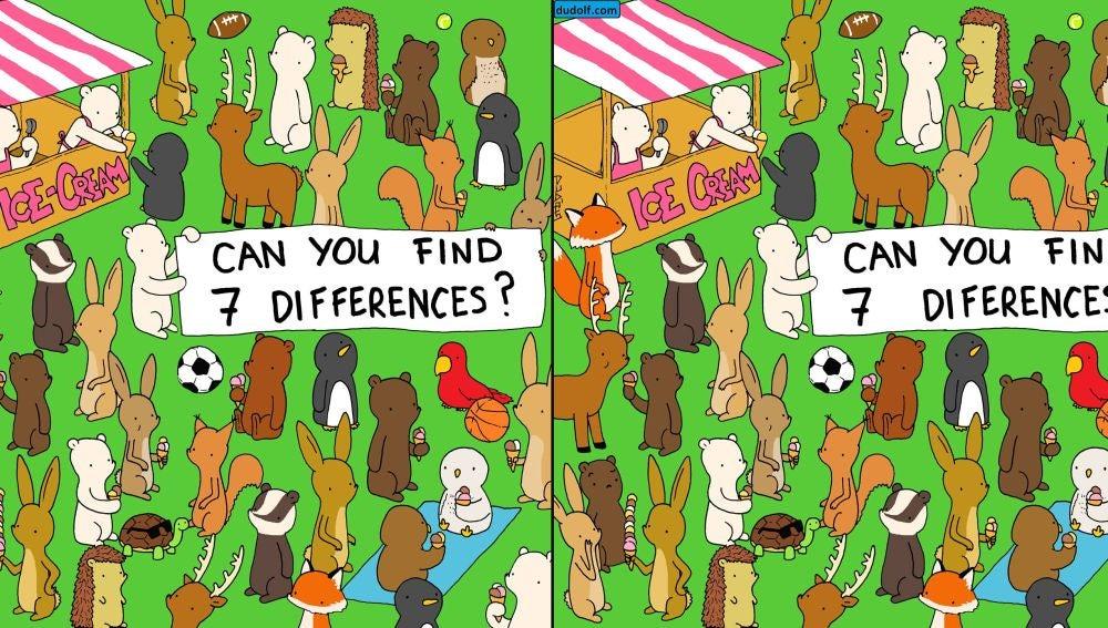 Encuentra la siete diferencias