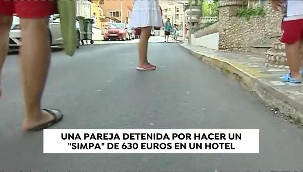 Detenida una pareja por hacer un 'simpa' de más de 630€ en un hotel de Oropesa