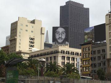 El anuncio de Colin Kaepernick, expuesto en San Francisco