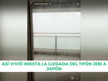Andrés Iniesta y su familia, en pleno epicentro del tifón Jebi en Japón