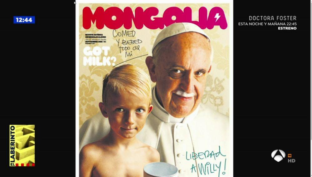 """Edu Galán, sobre la portada del Papa Francisco en 'Mongolia': """"En vez de encomendarse a la Virgen por los casos de pederastia debería hacerlo a la Justicia"""""""