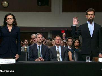 Twitter y Facebook defienden ante el Senado de Estados Unidos sus esfuerzos para evitar injerencia en las elecciones