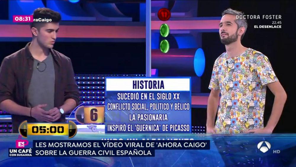 Susanna Griso recuerda el momento viral de '¡Ahora Caigo!' sobre el desconocimiento de dos jóvenes de la historia de España