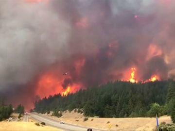 Un incendio forestal en California provoca la evacuación de decenas de personas