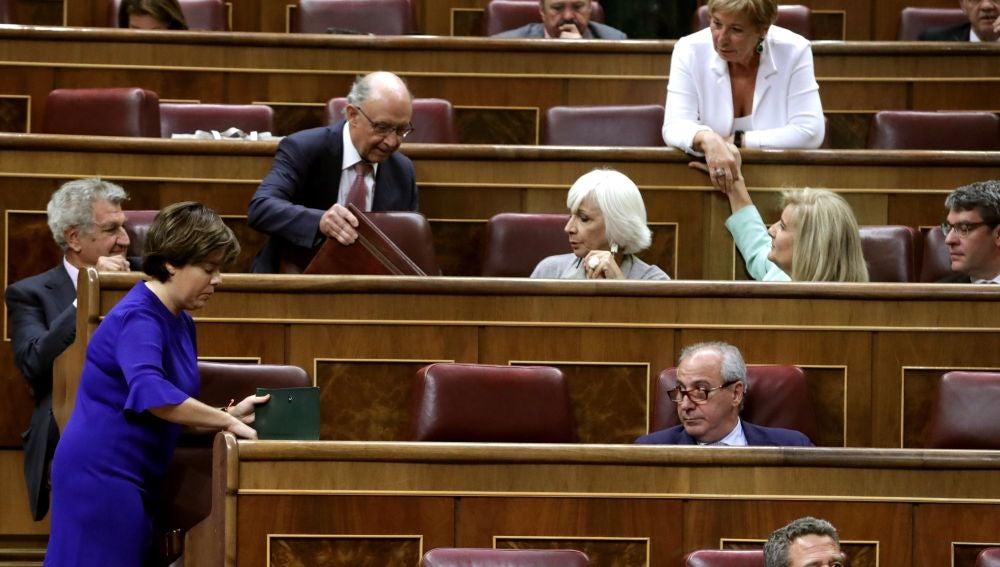 La exvicepresidenta del Gobierno Soraya Saénz de Santamaría,