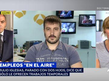 """Julio Iglesias, persona afectada por los trabajos temporales: """"Me duermo con preocupaciones porque no se cómo voy a terminar el mes"""""""