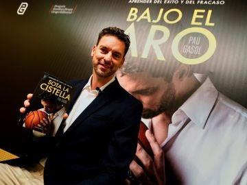 Pau Gasol, durante la presentación de su libro