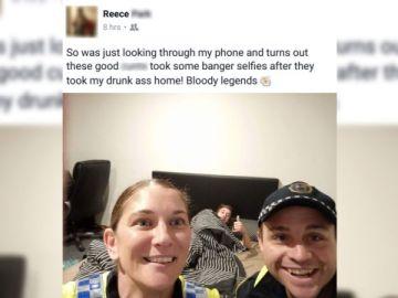 Dos policías le llevaron a casa borracho