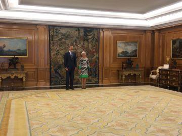 Segarra entrega a Felipe VI la última memoria de la Fiscalía General del Estado