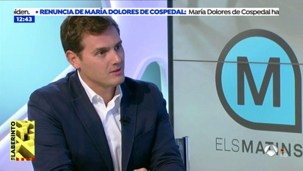 """La bronca de Albert Rivera con la presentadora de TV3: """"Sois un aparato de   propaganda separatista"""""""