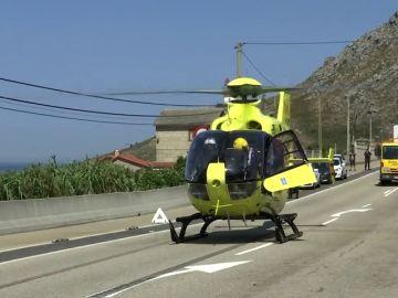 Fallece una mujer en una colisión entre un turismo y una furgoneta en Pontevedra