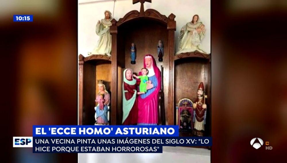 """Responsable del 'Ecce homo' asturiano: """"Pinté las tallas porque estaban horrorosas"""""""