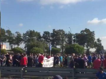 Protesta de trabajadores de Navantia en Andalucía
