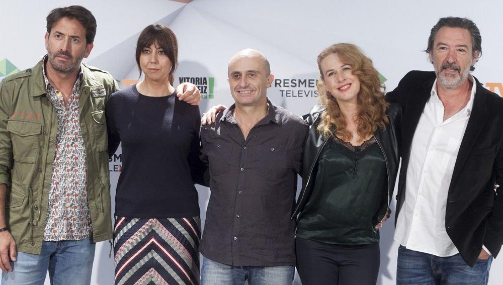 La reflexión de los actores de 'Matadero' sobre el humor, tras la presentación de la serie en el FesTVal de Vitoria