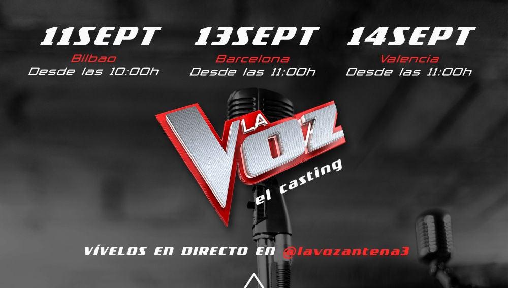 Sigue en directo los castings de 'La Voz' en Bilbao, Barcelona y Valencia a través de Instagram