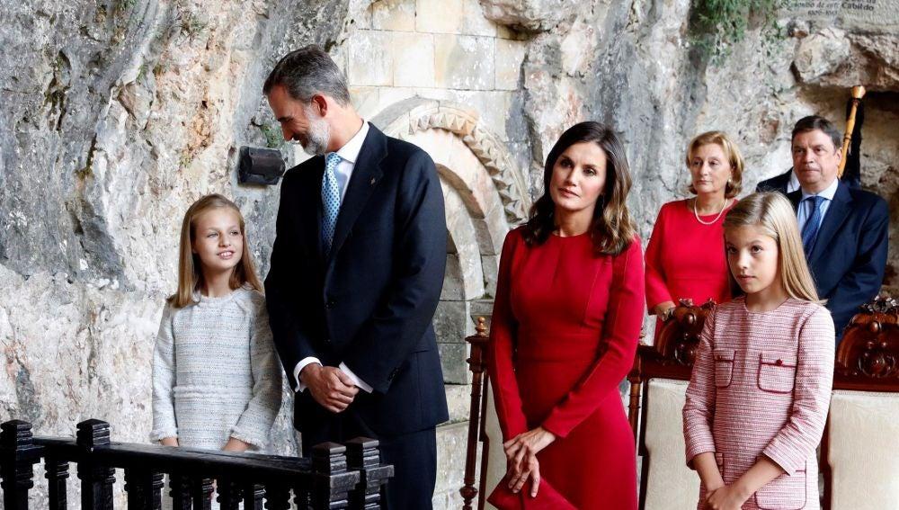 La Familia Real en Covadonga