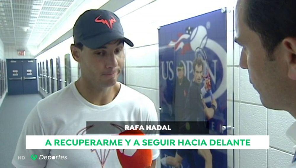 """Hablamos con Rafa Nadal tras abandonar en el US Open: """"Así es el día a día de mi carrera, hay que seguir"""""""