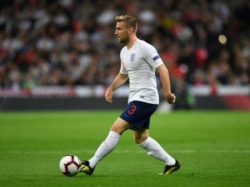 Luke Shaw, con Inglaterra