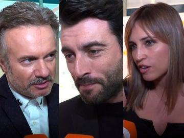 Tristán Ulloa, Javier Rey, Sandra Sabatés y Jorge Fernández en los premios del FesTVal de Vitoria