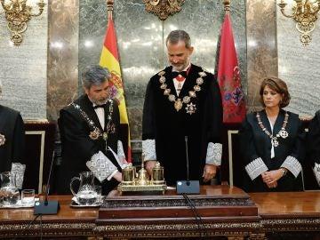 El Rey abre el año judicial marcado por el juicio al 'procés'