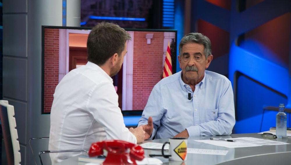 """Miguel Ángel Revilla habla sobre Cataluña en 'El Hormiguero 3.0': """"No podemos negociar que unos señores se salten la ley"""""""