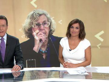 Matías Prats y Mónica Carrillo, presentadores de Antena 3 Noticias Fin de Semana