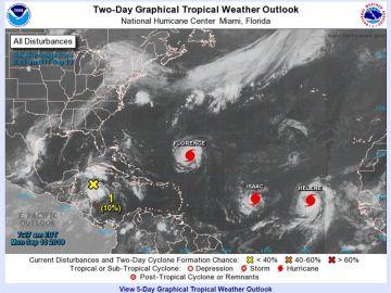 Los huracanes Florence, Isaac y Helene avanzan en aguas del Atlántico