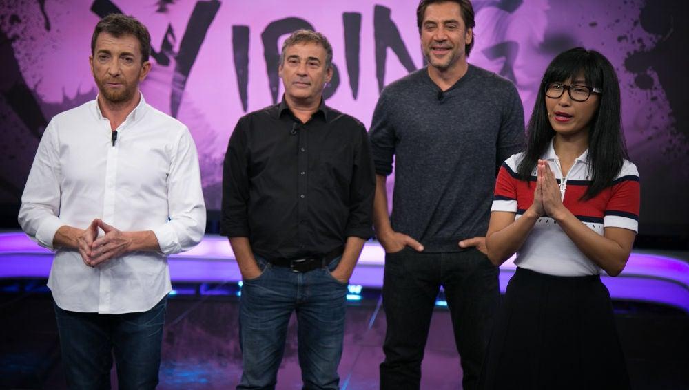La gota de sabiduría de Yibing con Javier Bardem y Eduard Fernández